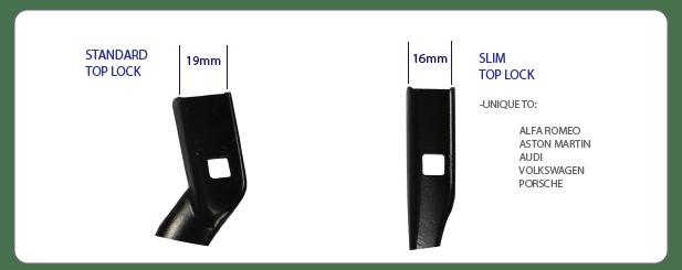 TB16 VS TB19 wiper arms