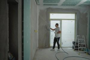 Man renovating his home.