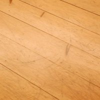 Damaged pine floor