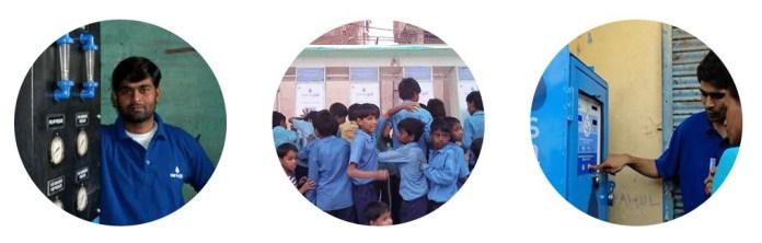 low cost water filter - Sarvajal Water ATM