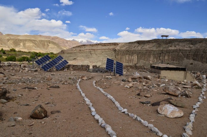 Solar panels which charge batteries SECMOL