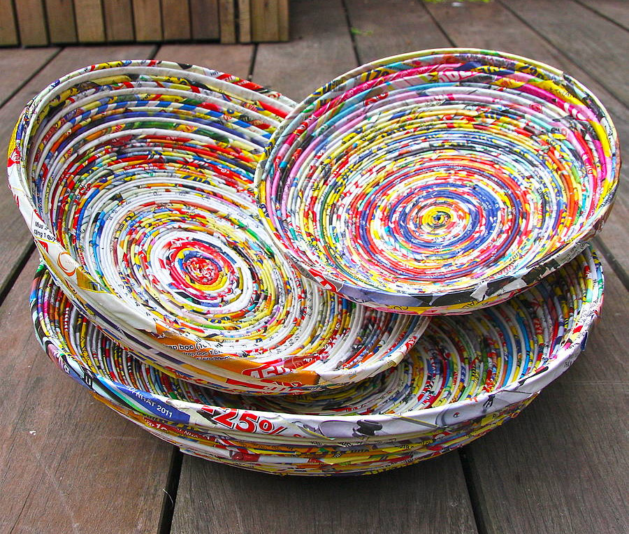 To Make A Paper Mache Bowl Use Plain Glass Or Steel And Stick Bits Of All Around It Until You Get The Desired Thickness Is Achieved