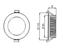 Down Light LED AU09-DL13W 13 Watt Dimmable Flat (2 Pack)