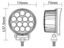 Work, Spot, Flood Light LED 42 Watt 10-30 Volt DC