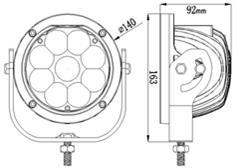 Work, Spot, Flood Light LED 45 Watt 9-80 Volt DC Stainless