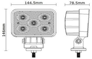 Work, Spot, Flood Light LED 50 Watt 10-30 Volt DC