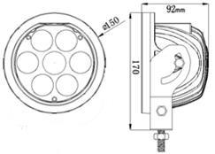 Work, Spot, Flood Light LED 70 Watt 10-30 Volt DC
