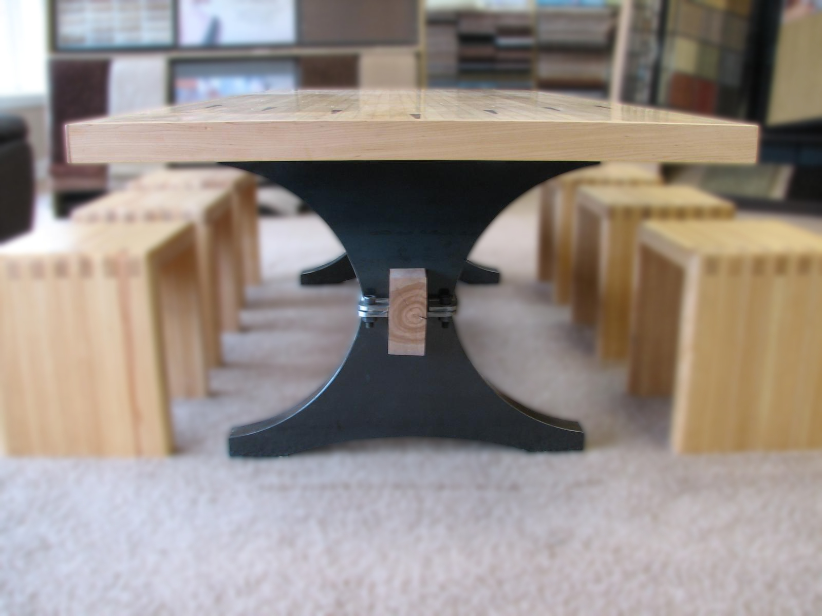 maple bowling alley archtrestle table