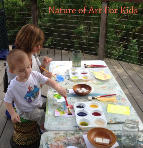 Preschool Painting with Nature