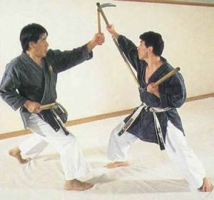 Kenyu Chinen sensei et Frédéric Méjias