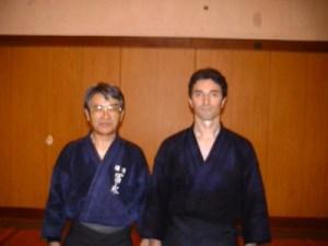 Tominaga sensei et Frédéric Méjias