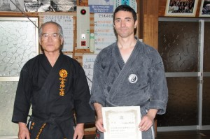 Shinkaï sensei et Frédéric Méjias