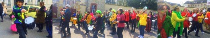 Batucada Sambadaboum de l'école de musique de Montois Bassée