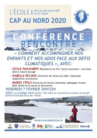 Affiche conférence Cap au Nord Crest février 2020