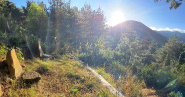 Point de vue sur les montagnes autour de La Comtesse