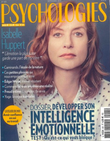Couverture Psychologies magazine sept 2019