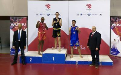Coupe de France Wushu Qingda – Erwann champion de France – Lucas 3ème