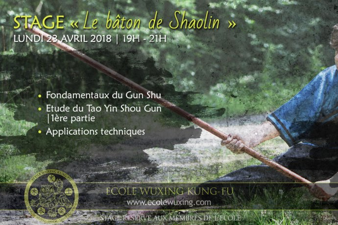 Stage baton gun shu shaolin - Ecole Wuxing Kung Fu