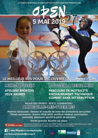 Open 57 2019 à Amnéville Compétition ffkda du Comité de Moselle de Karaté et Disciplines Associées