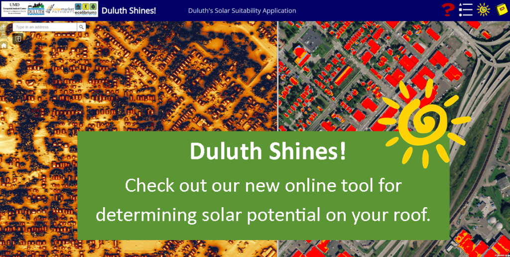 Duluth Shines! online tool graphic
