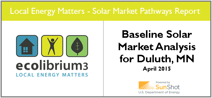 Baseline Solar Market Analysis for Duluth, Minnesota graphic