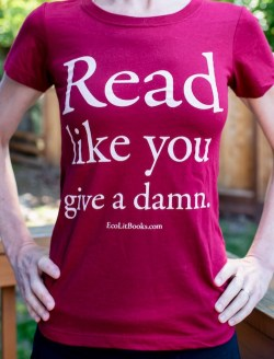 Read Like You Give a Damn t-shirt in cardinal red