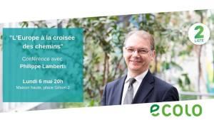 """""""L'Europe à la croisée des chemins"""" - soirée-débat avec Philippe Lamberts @ Maison Haute"""