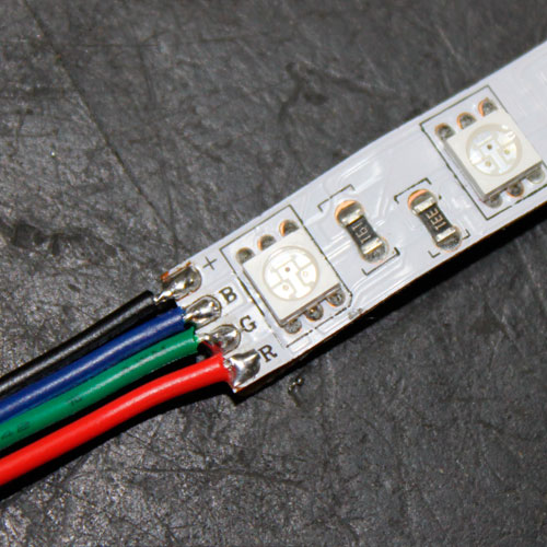 led strip light wiring diagram carrier economizer tutorials soldering wire to rgb lights solder view