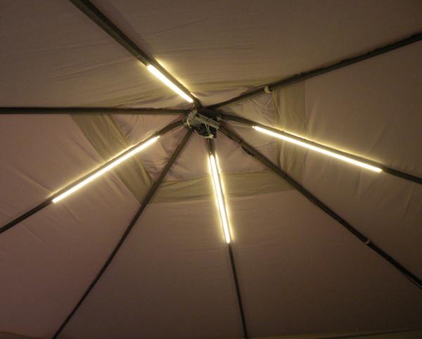 gazebo lighting project using warm