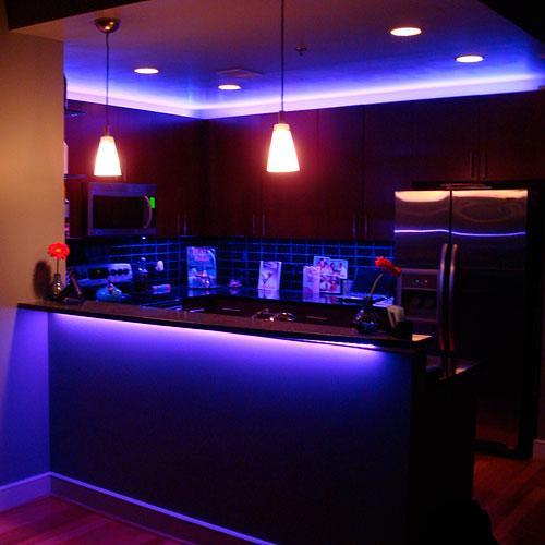 RGB LED Kitchen Using LED Strip Lights