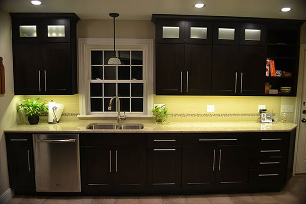 led kitchen lights mobile home cabinets for sale cabinet lighting using warm white strip