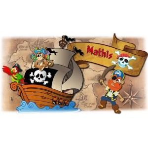 Gobelet personnalisé pirateavec le prénom de votre choix. Personnalisable à partir d'1 gobelet ! -