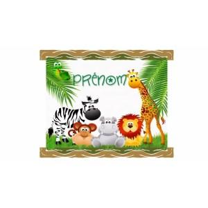 Gobelet nominatif personnalisé avec animaux du Zoo . Personnalisable à partir d'1 gobelet ! - personnalisé