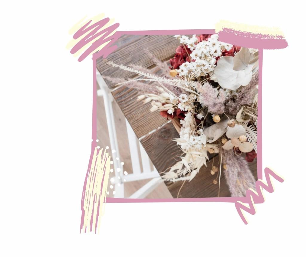 Ecolocup vous conseille des fleurs séchées, qui dure plus longtemps.
