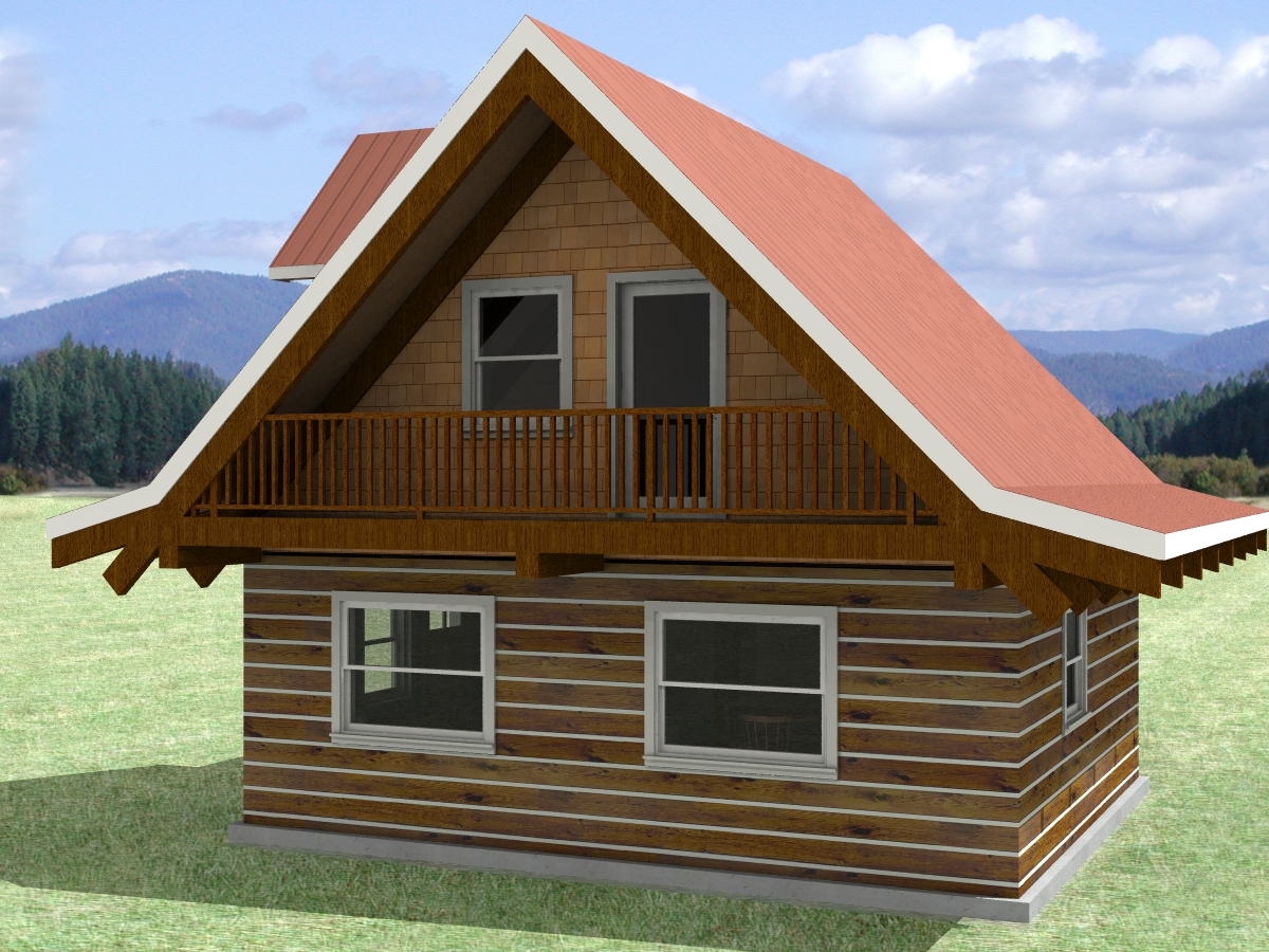 Floor Plan 24x20 Sqft Cottage A