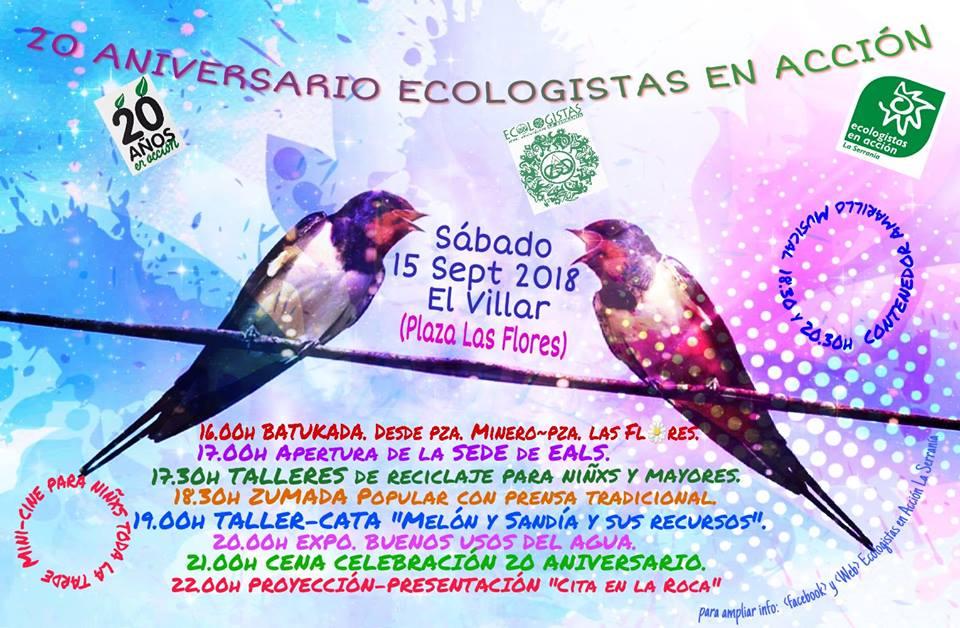 Fiesta 20 Aniversario Ecologistas en Acción