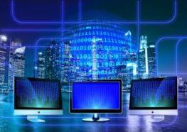3 computer screens