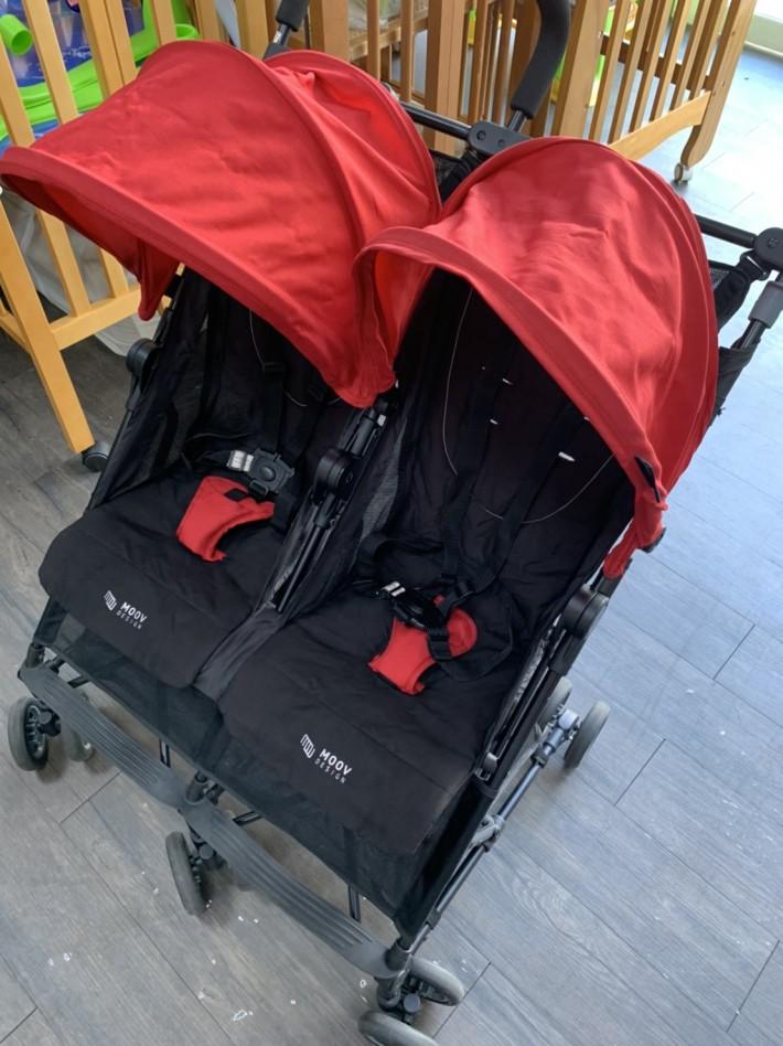 MOOV Design ALVIS 極小雙寶車/雙人推車-英格蘭紅 | 二手商城 | ECO媽咪 - 二手婦嬰用品,二手嬰兒用品