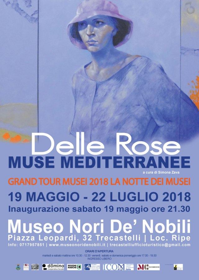 flyer mostra Muse Mediterranee - Museo Nori De' Nobili ecomarchenews