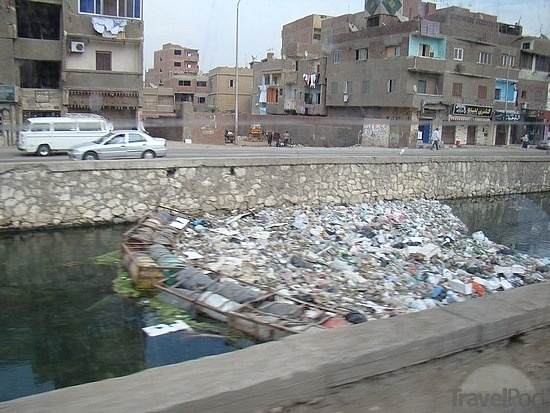 River Nile is commonly used for dumping of household trash