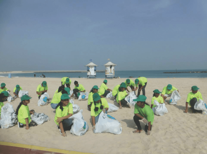A beach cleanup campaign by Green Hope