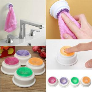 Simple Design Movable Bath Towel Hook Self-Adhesive Back Pad Cloth Tea Towel Holder Rubber