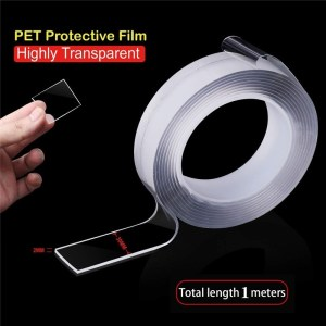 Nano Tape,Traceless Washable Adhesive Pita Reusable Clear Double Sided Magic Nano Gel Pads,Removable Sticky Disks Strips
