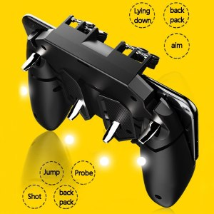 AK66 R11 PUBG Mobile Controller Turnover Button Gamepad for IOS Android Six 6 Finger Operating Peripherals Pubg Trigger G1