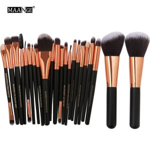 20/22Pcs Beauty Makeup Brushes Set Cosmetic Foundation Powder Blush Eye Shadow Lip Blend Make Up Brush Tool