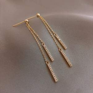 Trendy Crystal Drop Women Dangle Earring