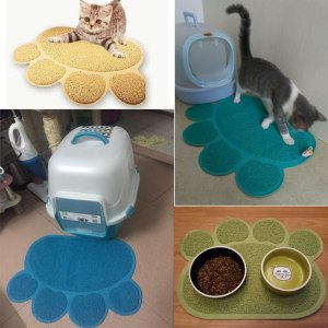 Pet Dog Puppy PVC Cat Dish Bowl Feeding Food Placemat Mat Wipe Clean Tray Mat