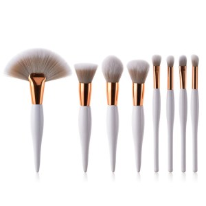 8Pcs Pro Makeup Brushes Set Foundation Powder Eyeshadow Eyeliner Lip Brush Tool
