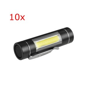 10pcs XANES 1516 T6 1000Lumens Portable Brightness EDC LED Flashlight 1*14500 or 1*AA