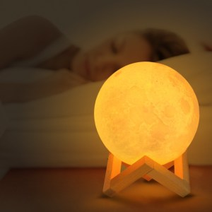 3D Print Moon Lamp LED Night Light for Home Christmas Decoration